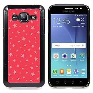 /Skull Market/ - Stars Pink Red Pattern Gift Christmas Xmas For Samsung Galaxy J2 - Mano cubierta de la caja pintada de encargo de lujo -