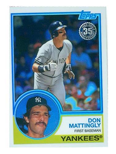 Don Mattingly Baseball Card 2018 Topps Chrome 75 Silver Pack 1983