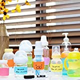Stretchy Bear Reusable Baby Bottle Labels for