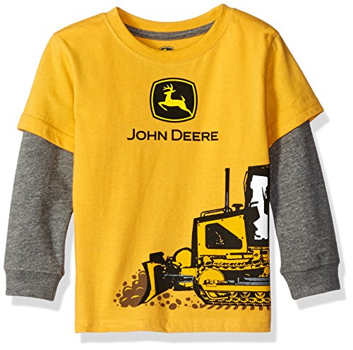John deere toddler boys construction tee yellow 2t for John deere shirts for kids