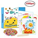 DIY Pom Poms Crafts Art Kit 1500pcs Balls with 8 Art Cards for Kids Colorful Craft for Girls Boys