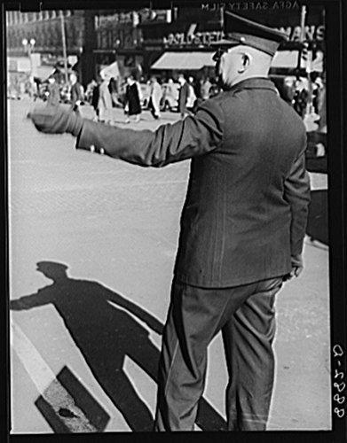 1938 Photo Traffic director. Omaha, Nebraska Location: Douglas County, Nebraska, Omaha