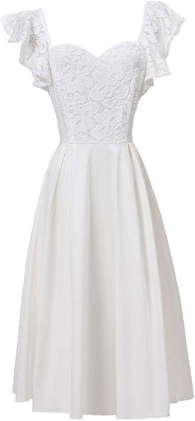 NOBRAND Damen Kleid mit Schmetterlings-Ärmeln, sexy, großes Kleid