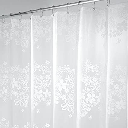 MDesign Halo PEVA Shower Curtain Mold And Mildew Resistant Water Repellent