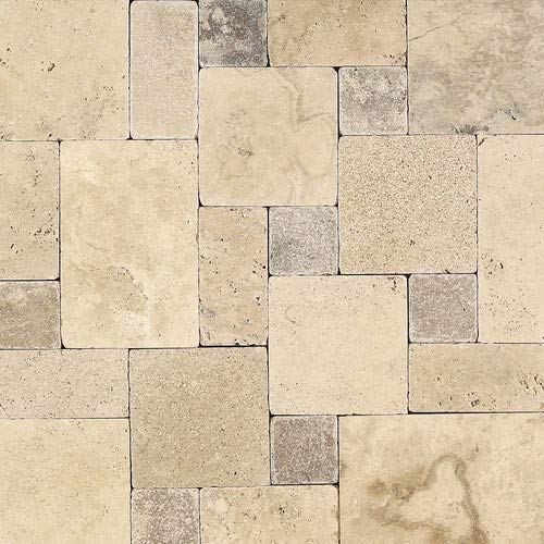 Daltile 36 in. x 0.375 in. Tumbled Stone Peruvian CRM BD Pattern Tumbled