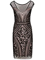 Short V-Neck Inspired Sequins Cocktail Flapper Dress