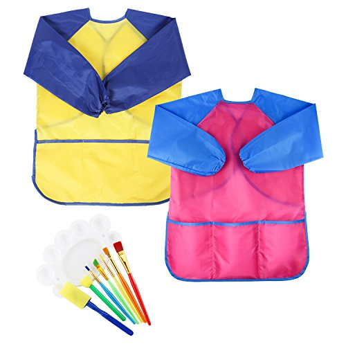 Girls SANMERSEN Painting Smocks brushes product image
