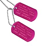 GoTags Pet ID Custom US Military Dog Tag