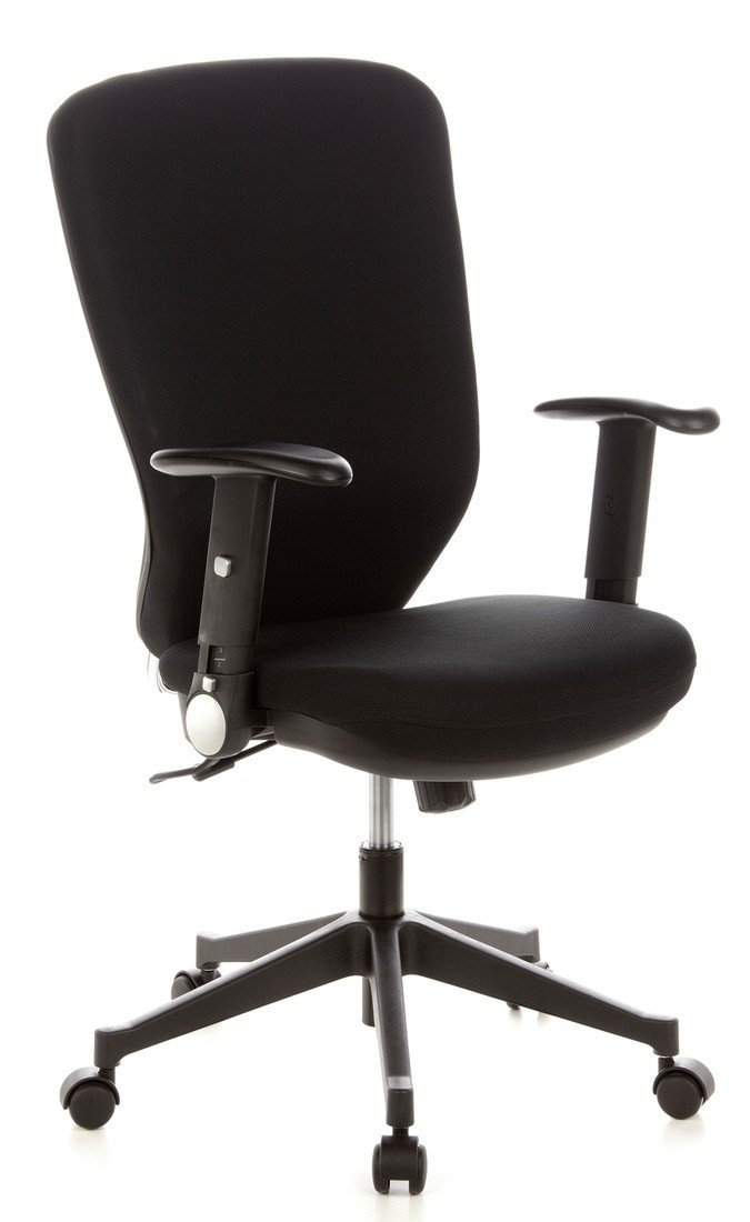 hjh OFFICE Traffic 30 Silla de Oficina, Tela, Negro, 48.0x58.0x117.0 cm: Amazon.es: Hogar