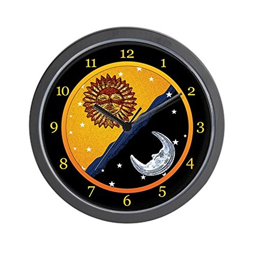 CafePress - Sun, Moon, and Stars Clock - Unique Decorative