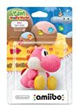 Pink Yarn Yoshi Amiibo (Yoshis Woolly World Series)
