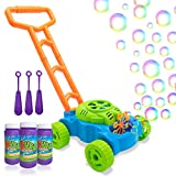 Toys : Lydaz Bubble Mower, Electronic Walker Bubble Blower Machine Lawn Games Outdoor Push Toys for Kids Toddlers