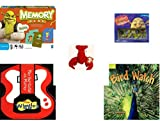 Children's Gift Bundle - Ages 3-5 [5 Piece] - Shrek Forever After Memory Game - Shrek Dominoes Toy - Ty Teenie Beanie Babies - Pinchers the Lobster - The Wiggles Play Your Guitar with Murray Board b
