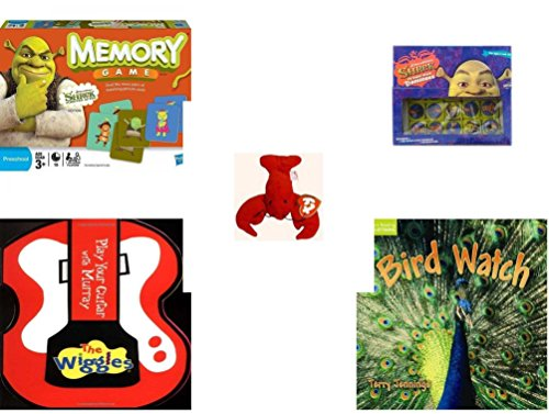 le - Ages 3-5 [5 Piece] - Shrek Forever After Memory Game - Shrek Dominoes Toy - Ty Teenie Beanie Babies - Pinchers the Lobster - The Wiggles Play Your Guitar with Murray Board b ()