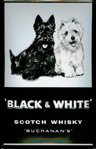 Buchanans Black & White Scotch Whisky nostalgic 3D emboss...