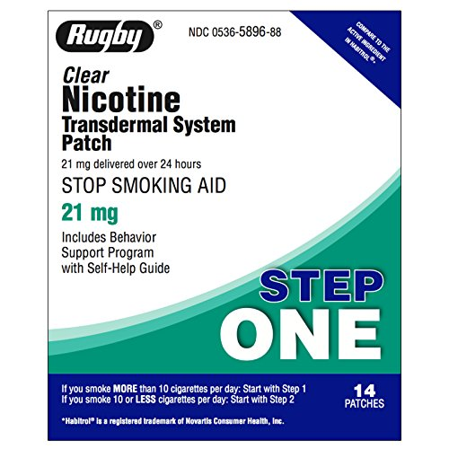 Rugby Nicotine Transdermal System Step 1 (21mg) – 14 Patches – Buy Packs and SAVE (Pack of 2)