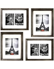 """Art Emotion Rustic Oak Style High Profile Picture Frame, 1.75"""" Frame Height, 2MM Reinforced Glass"""