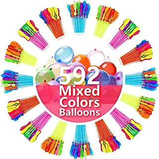 Water Balloons for Kids Girls Boys Balloons Set Party Games Quick Fill 592 Balloons 16 Bunches For Swimming Pool Outdoor Summer Fun 13