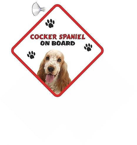 Cocker Spaniel (o & WT), diseño de cartel de colgar de Coche ...