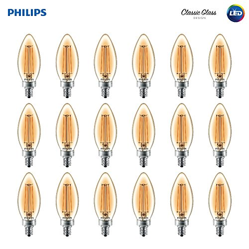 Philips LED B11 Dimmable Candle Light Bulb with Warm Glow Ef