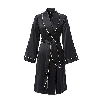 Pijamas Batas De Seda Largas Ropa para El Hogar Vestidos Vestidos Mejor Regalo para Mujeres (Color : Black, Size : M): Amazon.es: Hogar