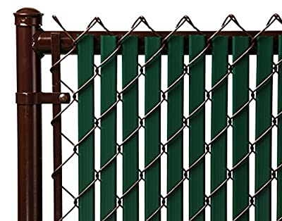 6ft Green Tube Slats for Chain Link Fence
