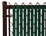 Green Double Wall Bottom Lock Fence Slat for 5ft Chain Link
