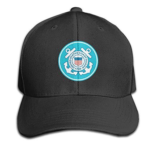 United States Coast Guard 1790 100% Cotton Hat Men Women Adjustable Baseball Cap Solid Color Cap Golf Cap Black