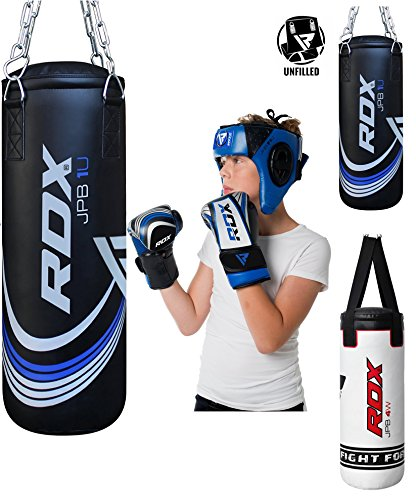 RDX Kids Heavy Boxing 2FT Punching Bag UNFILLED MMA Punching Training Gloves Kickboxing (Boxing Material)