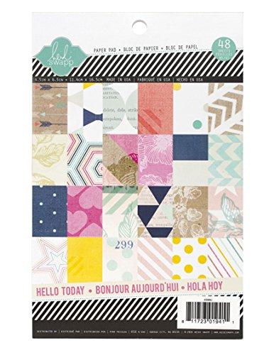 Heidi Swapp Hello Today 4x6 Paper Pad