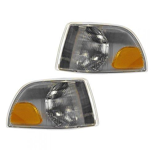 (Side Marker Corner Parking Turn Signal Light Lamp Pair Set for Volvo C70 S70)