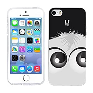 DIY Case Designs White Fuzzballs Soft Gel Back Case Cover for Apple iPhone 5 5s by ruishername
