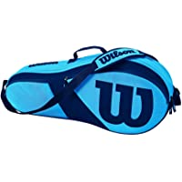 Wilson Match Iii Tennis Bag Ultra Holds 3 Racquets, Blue/Blue