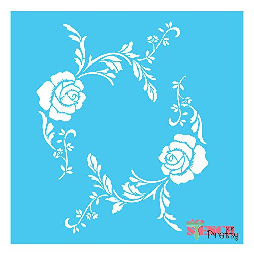 (Vintage flower border stencil French shabby U Paint It (X Small- 5