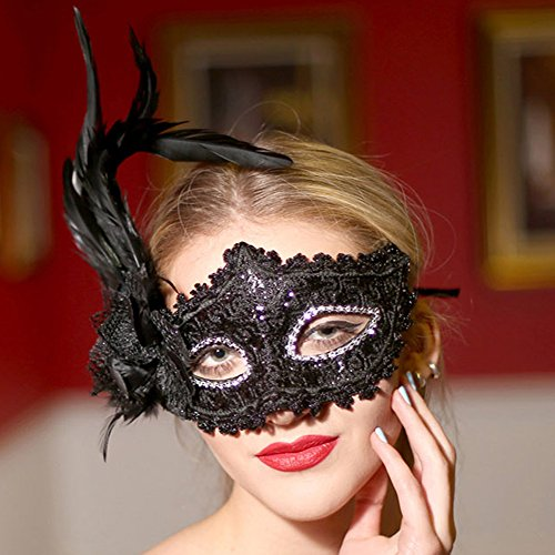 Whole Halloween Costumes - KAKA(TM) Mask Child Costume Cosplay Ball Dancing Party [Halloween] Princess Masks Facial Masquerade - Golden
