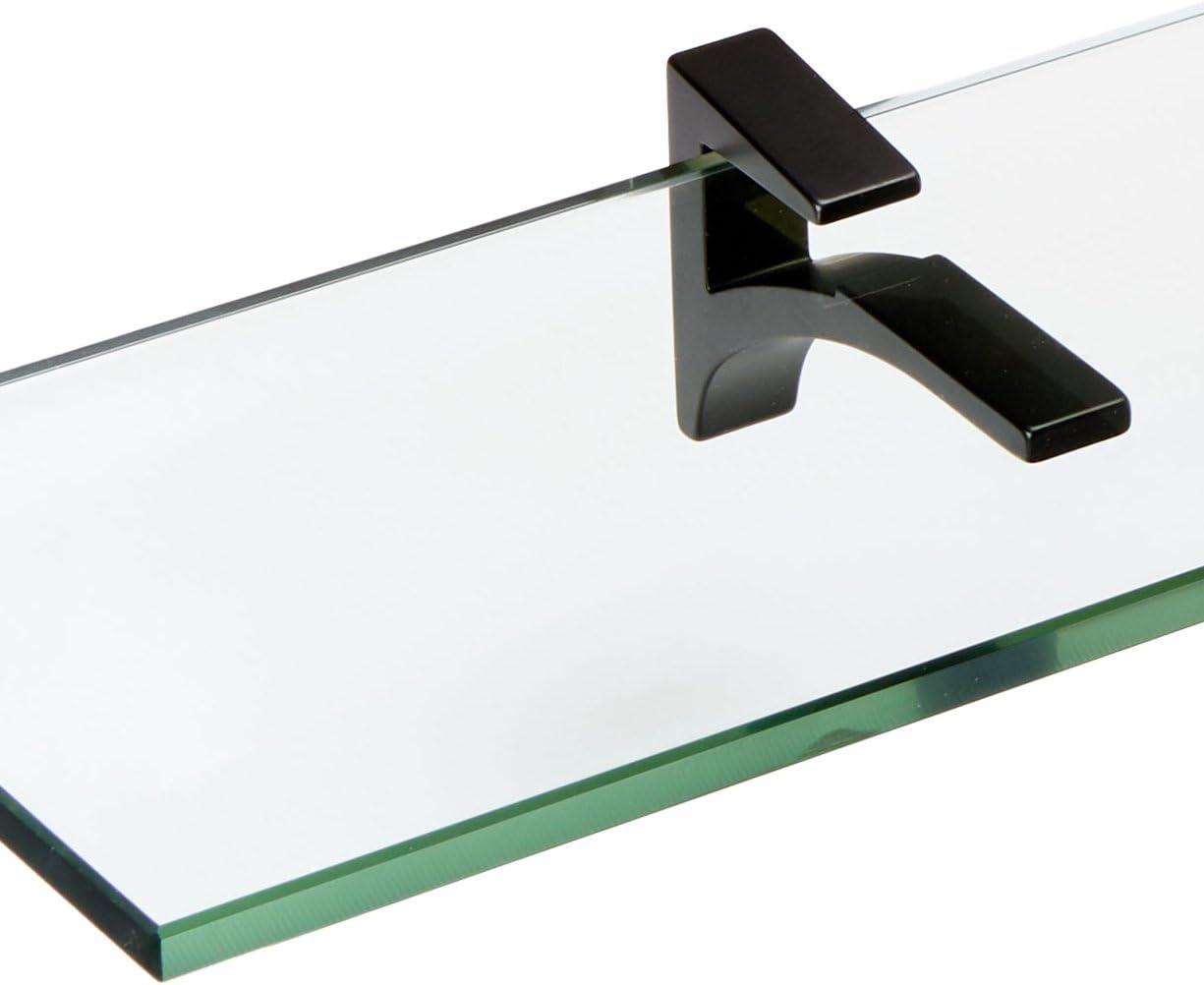 White Spancraft Glass Cardinal Glass Shelf 4.75 x 36