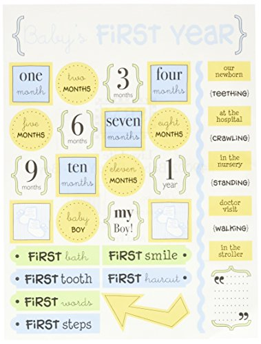 Scrapbook Title Tag - SRM Stickers Live Life Baby's 1st Year Boy (49002)