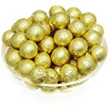 Foil Confectionery (Gold) Wrapper - Candy Bar Wrappers without paper Backing - Folds and Wraps Well - Best for Wrapping Candies/Chocolate Balls Size 4 x 4 / Pack of 100