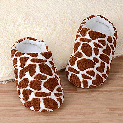 Women Cute Slippers Shoes with Soft Plush Cotton Indoor House Home Furry Slippers Women Bedroom Shoes Light Footwear
