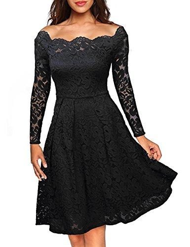 Partykleid schwarz langarm