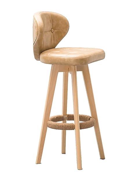 Qiangzi Sedie in legno moderne Moderno Sgabello da bar Moderna ...