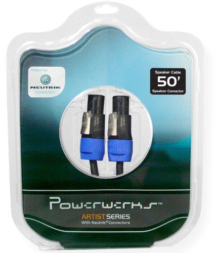 Powerwerks Artist Series 50 Feet Speaker Cable Assembled with Neutrik speakON Connectors PW50S