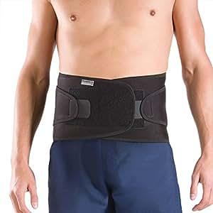 PhysioRoom Elite Soporte para la espalda - alivio del dolor, apoyo, cómodo, compresión, ajustable, retención de calor, neopreno, facilidad espasmos musculares, columna vertebral, neopreno, algodón, nylon Medium