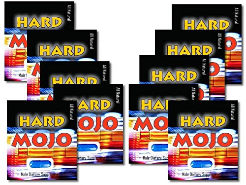 Hard Mojo (10) Pack- All Natural, Male Enhancement, Guaranteed or Your Money Back, Each Capsule Lasts 3 Days, Get Hard, Stay Hard,