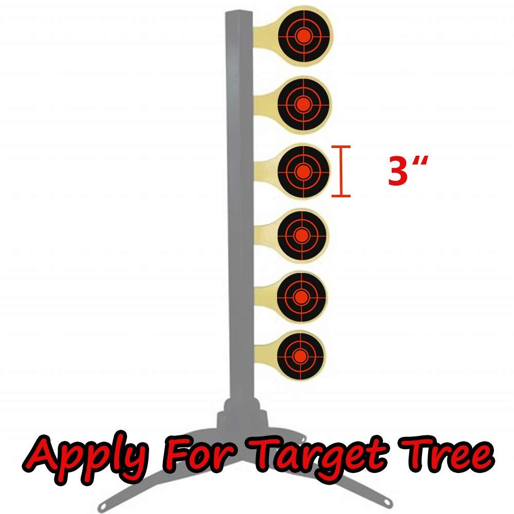 Jaune Fluorescent GearOZ Cible Anti-/éclaboussures pour tir de 7,6 cm Bulley cibles adh/ésives r/éactives pour BB Pellet Airsoft Haute visibilit/é