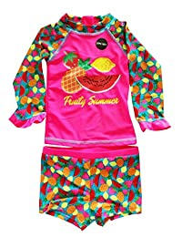 Baby Little Girls Rash Guard Tankini Swimsuit Pineapple Fruit Swim Set