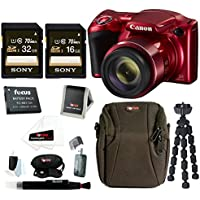 Canon PowerShot SX420 IS Digital Camera (Red) w/ Sony 48GB SD Cards & Advanced Accessory Bundle Review Review Image