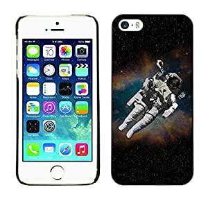 Shell-Star ( Astronaut Cosmonaut In Space ) Fundas Cover Cubre Hard Case Cover para Apple iPhone 5 / 5S