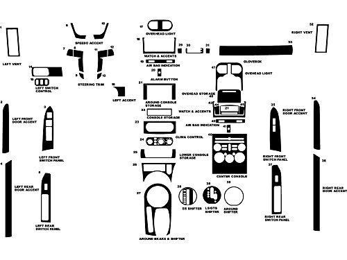 Mitsubishi Fiber Galant Carbon - Rdash Dash Kit Decal Trim for Mitsubishi Galant 2004-2008 - Carbon Fiber 4D (Silver)
