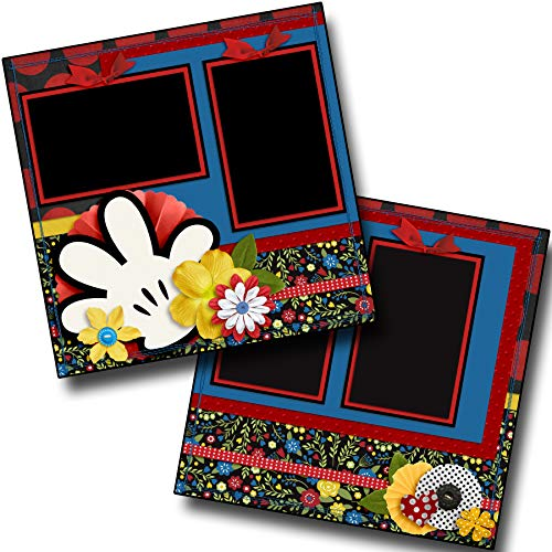 Minnie Flowers - Premade Scrapbook Pages - EZ Layout 3916